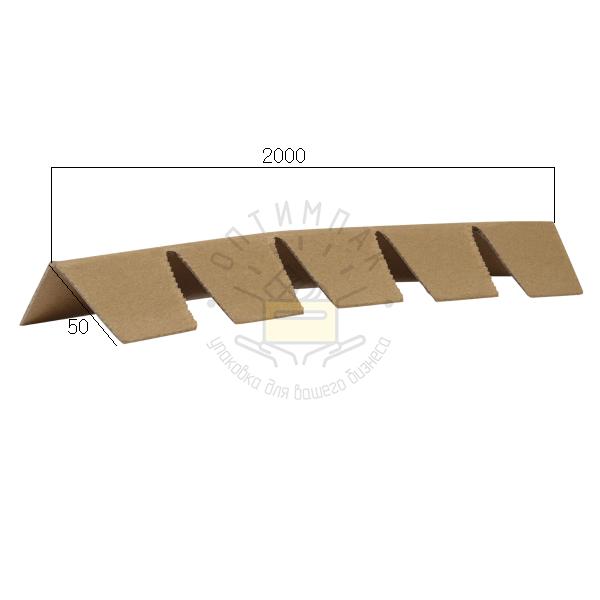 Уголок защитный 50*50*2 мм длина 2000 с просечкой