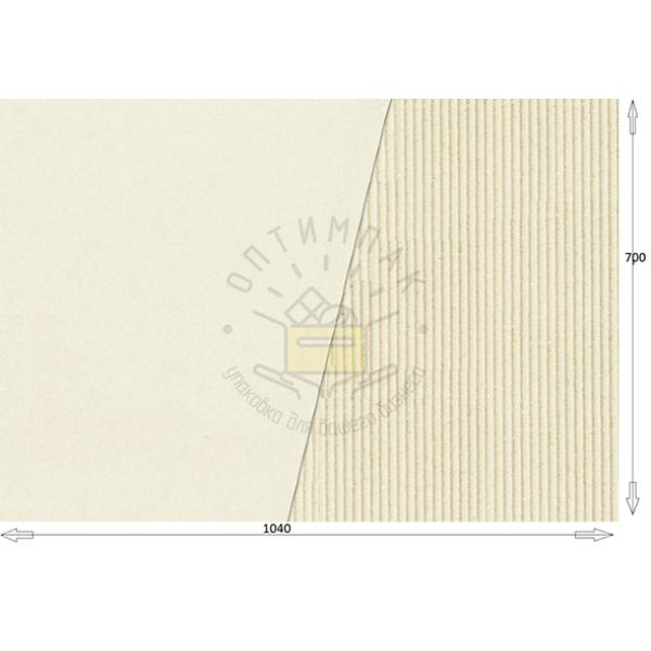 Двухслойный микрогофрокартон из офсетной бумаги 1040*700 бел/бел
