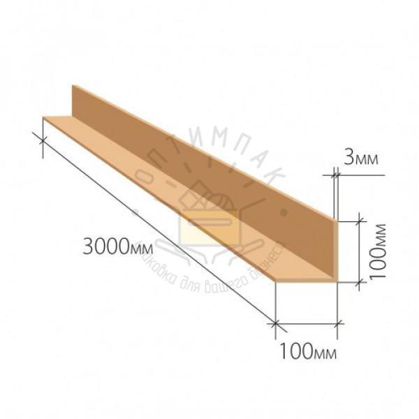 Уголок защитный 100*100*3 мм длина 3000